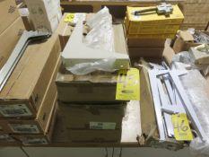 (4) BOXES OF HD SHELF BRACKETS