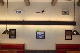 Memorabilia; Harvest Bread Health Calendar, Pure Sign, Birds Eye View of Mulberry Bridge, Wooden