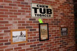 Memorabilia; Late 40's Tennis Team, Chew Tub Tabaco, Leo Kob Calendar, 40's Basketball Team