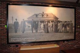 "Elizabethtown Train Station 1900 Photo 14' 2""L X 7' 5""T"