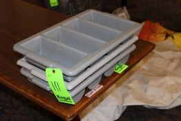 (3) Flatware Trays