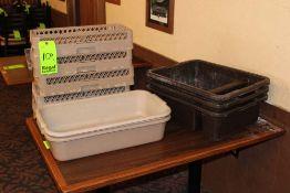 Traex Flatware Soak System Baskets (5), (2) Rack-Master Flatware Soak System Traex 1390,