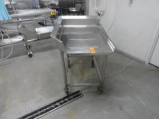 """STAINLESS STEEL PERFERATED DRAIN TABLE 3' X 43"""""""