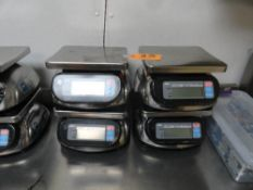 (4) AND DIGITAL SCALE, BATTERY OPERATED, 11# X 0.1, 5000 GRAM