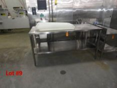 """STAINLESS STEEL TABLE, 6' X 30"""" WITH S/S UNDERSHELF"""