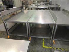 """STAINLESS STEEL TABLE. 6' X 30"""" WITH UNDERSHELF"""