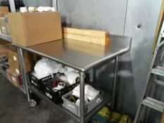 (2) Stainless Steel Tables on Wheels