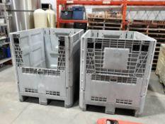 (2) 3' x 4' Plastic Storage Bins