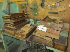 Lot Wood Trays and Vise Grips Location: 129 Bank St