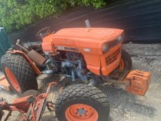 KUBOTA L355SS TRACTOR WITH BUSH HOG 5060 ATTACHMENT (SERIAL No. 12-11752) - 4WD - 0226 HOURS ON METE