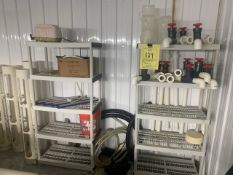 CAMBRO RACKS WITH CONTENTS & PVC