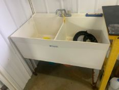 UTILATWIN 2 COMPARTMENT UTILITY SINK