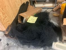 LOT ASSORTED FISH NETTING & BLACK 1/4'' MESH