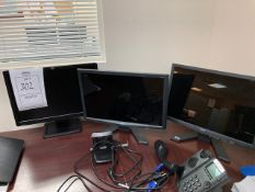 ASSORTED MONITORS - 2- ACER X193W / 1- HP LE1901W (HALL)