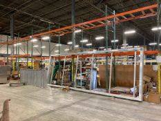 SECTIONS PALLET RACKING - 24- UPRIGHTS (190'') / 81- CROSS BEAMS (102'' & 144'')