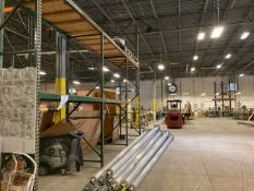 SECTIONS PALLET RACKING - 4- UPRIGHTS (142''H x 40''W) / 12 CROSSBEAMS (100''L)