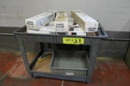 LOT: CART W/ (5) 2000# JET CABLE PULLERS
