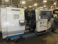 OKUMA LU15-MW TWIN TURRET CNC TURNING CENTER, S/N 1117 WITH OKUMA OSB-7000L CONTROLS & LIVE TOOLING