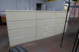 4-DRAWER STEEL LATERAL FILE CABINETS (X$)