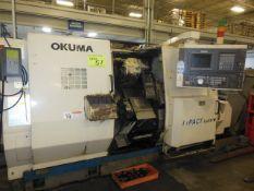 OKUMA IMPACT LU-15-W TWIN TURRET CNC TURNING CENTER S/N 0745, OSP 7000L CONTROL (NO LIVE TOOLING)