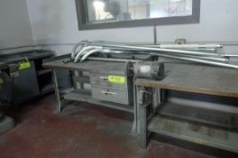 LOT: (3) WORK BENCHES & CABINET