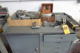 """LOT: WHEEL DRESSERS; 8"""" ROTARY X-Y CABLE; BORING HEADS STAMPS; TAPPING HEAD ON MOBILE CART"""