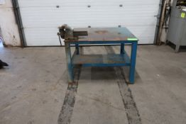 """Heavy Duty Shop Table 49x48x44"""" with vise"""