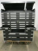****Lista Style Smooth Rolling Mechanic Cabinet with 33 Drawers - complete with lock & keys with 2 X