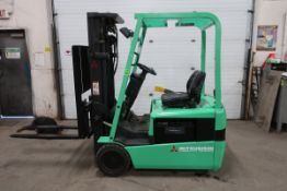 FREE CUSTOMS - Mitsubishi 3200lbs Capacity 3-wheel Forklift Electric with 3-stage mast with