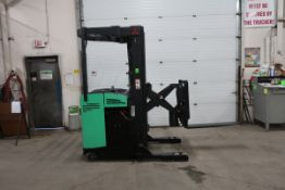 FREE CUSTOMS - Mitsubishi Reach Truck Pallet Lifter REACH TRUCK electric 3000lbs with 3-stage mast &