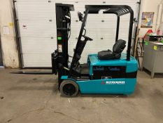 FREE CUSTOMS - Mitsubishi 4000lbs Capacity 3-wheel Forklift Electric with 3-stage mast & sideshift