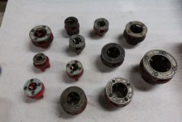 "Lot of Ridgid Pipe Threading Dies up to 2"" in size"