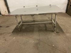 "Work Table Work Bench Unit 72"" x 44"" with stainless steel table top"