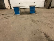 "Work Table Work Bench Unit 72"" x 30"" with drawers & cabinet on sides"