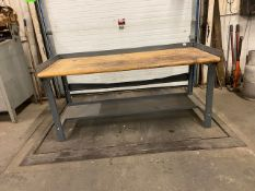 "Work Table Work Bench Unit 72"" x 30"" with wooden table top"