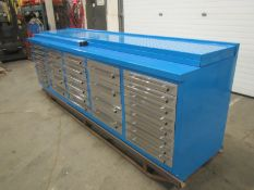 Lista Style 30 Drawer Bench Heavy Duty Cabinet with Stainless Steel drawers