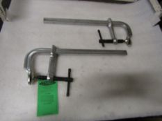 Lot of 2 MINT BESSEY style F-CLAMPS - UNUSED-NEW