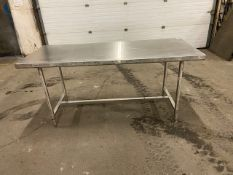 "Work Table Work Bench Unit 72"" x 30"" with Stainless Steel Table Top"