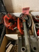 Lot of Ridgid Pipe Threader Dies with 2 x Pipe cutters