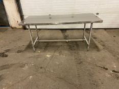"""Work Table Work Bench Unit 72"""" x 30"""" with Stainless Steel Table Top"""