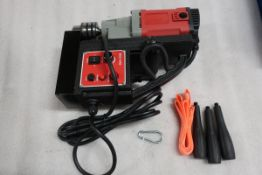 Mag Drill COMPLETE with drill Chuck - 680RPM 110V MINT & UNUSED