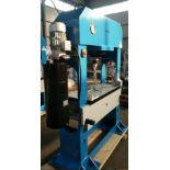 Bernardo Macchina model BHP-100 H-Frame Press 100 Ton Capacity with adjustable table height,