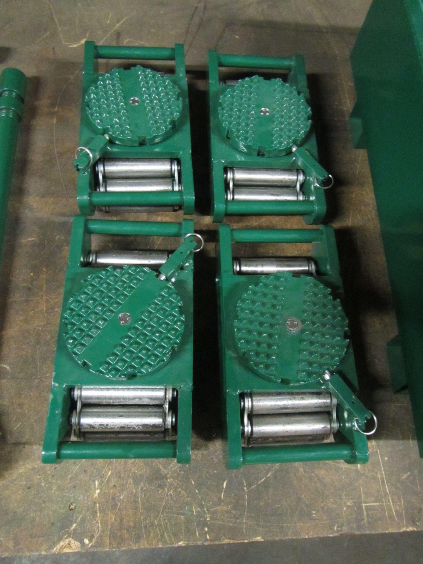 Hilman Type Roller Set Machinery moving skates - 60 Ton Deluxe Kit - 4 x 15 ton units - Image 2 of 2