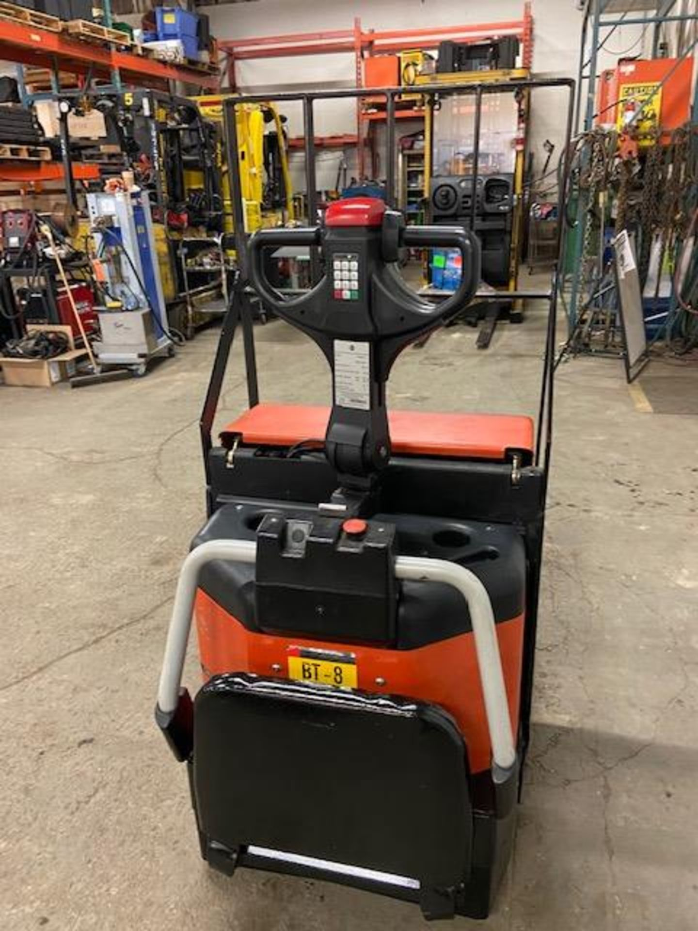 """2007 BT Raymond Ride On Electric Powered Pallet Cart Walkie Lift 5000lbs capacity 48"""" with LOW - Image 2 of 2"""