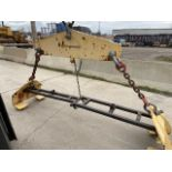 Steel plate or bar lifter - 9' max width or length - capacity 10,000lbs or 5 ton