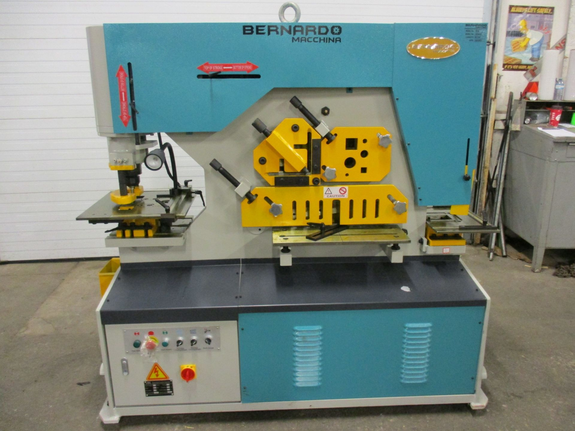 Bernardo Macchina 95 Ton Capacity Hydraulic Ironworker - complete with dies and punches - Dual
