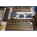 Lot of Pin Gauge Sets and Inside Micrometer set - small pins & large in cases