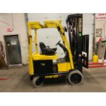 FREE CUSTOMS - 2015 Hyster 5000lbs Capacity Forklift Electric with 4-STAGE MAST with sideshift &