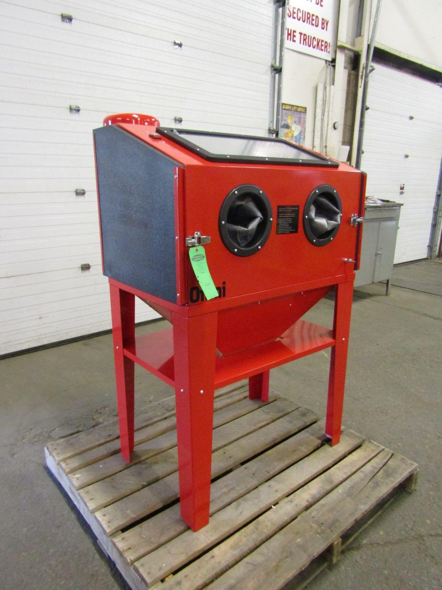 "BRAND NEW OMNI Sandblast Cabinet with Dust vacuum unit - 125PSI working space 24"" X 33"" X 25"""