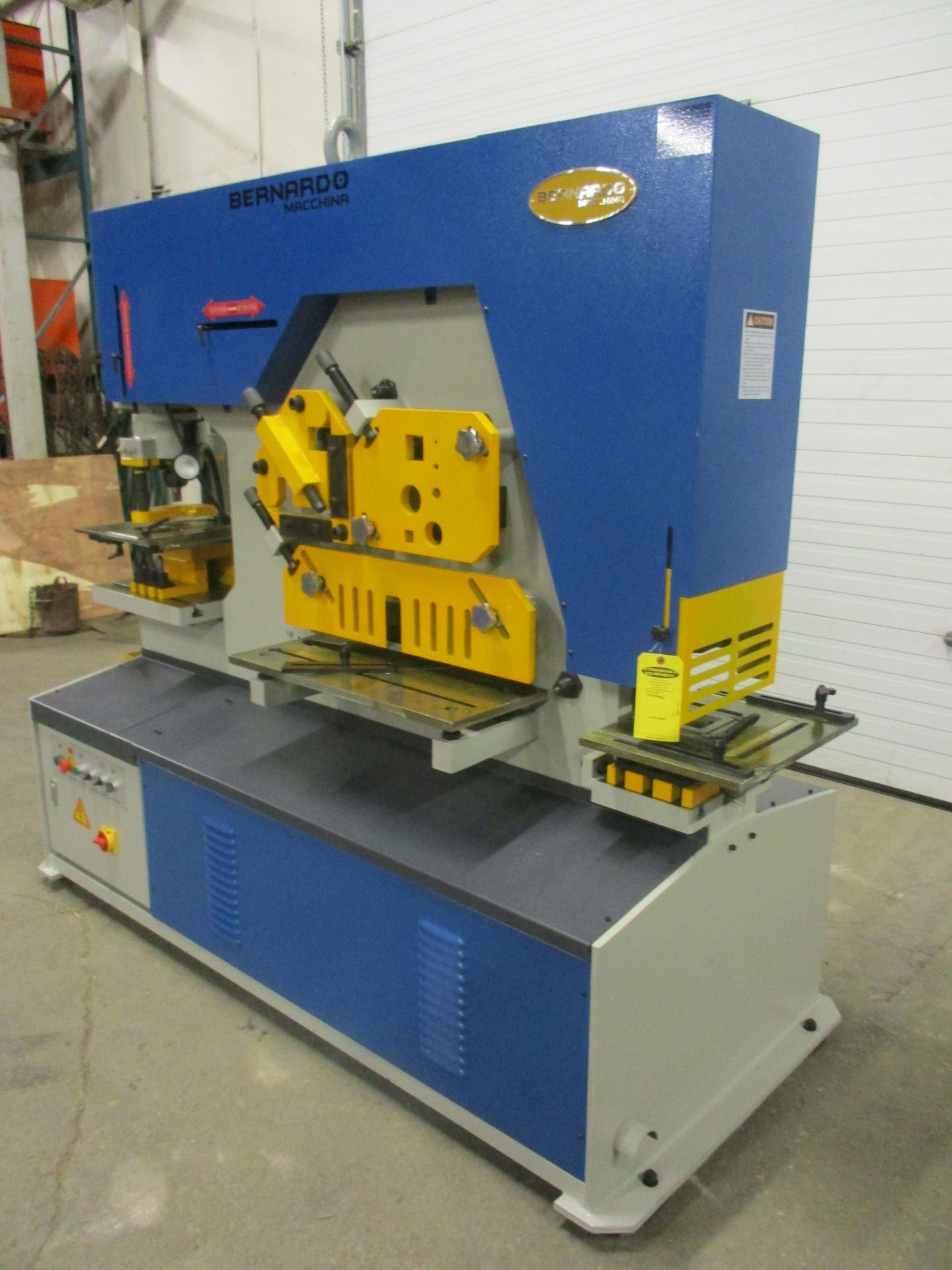 Bernardo Macchina 125 Ton Capacity Hydraulic Ironworker - complete with dies and punches - Dual - Image 3 of 3